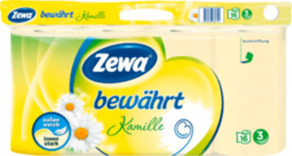 Zewa Toilettenpapier bewährt Kamille (16 x 150 Blatt)