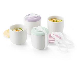 4 Eierspeisen-Bereiter aus Porzellan