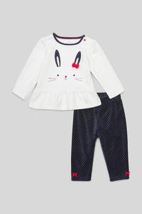 C&A Baby-Pyjama-Bio-Baumwolle-2 teilig, Weiß, Größe: 92