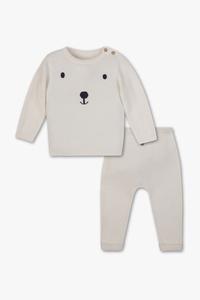 C&A Baby-Outfit-2 teilig, Weiß, Größe: 80