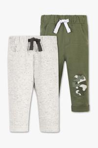 C&A Baby-Jogginghose-2er Pack, Grün, Größe: 98