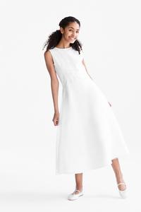 C&A Set-Kommunion-Kleid und Bolero-extra-weit, Weiß, Größe: 134/140