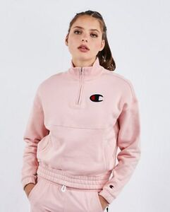 Champion Logo 1/4 Zip - Damen Track Tops