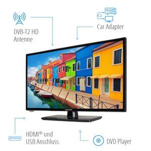 MEDION LIFE® E12443 Fernseher, 59,9 cm (23,6'') LCD-TV, Full HD, HD Triple Tuner, integrierter DVD-Player, Car-Adapter, integrierter Mediaplayer, CI+