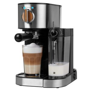 MEDION Espressomaschine MD 17116 mit 15 bar, integrierter Milchaufschäumer, 1.470 Watt, 1,2 l Wassertank (B-Ware)