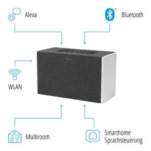MEDION LIFE® P61142 WLAN Lautsprecher mit Amazon Alexa, WLAN, Bluetooth®, Multiroom, Party-Mode, DLNA, kabellose Musikübertragung, 2 x 10 W RMS (B-Ware)