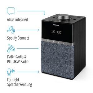 MEDION LIFE® P66130 All-In-One Mikro-Audio-System mit Amazon Alexa, perfekt für die Küche, Dot-Matrix-Display, DAB+, PLL-UKW, DLNA, WLAN, Sprachsteuerung, Multiroom, Spotify® Connect, 4 W RMS (B-