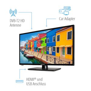 MEDION LIFE® E12442 LCD-TV, 59,9 cm (23,6'') Full HD Display, HD Triple Tuner, integrierter Mediaplayer, Car-Adapter, CI+