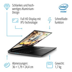 MEDION AKOYA® E6245, Intel® Pentium® Silver N5000, Windows 10 Home, 39,5 cm (15,6'') FHD Display, 1 TB HDD, 8 GB RAM, Slim-Bezel-Design, Schnellladefunktion, Notebook