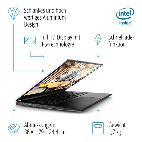 MEDION AKOYA® E6245, Intel® Pentium® Silver N5000, Windows10Home, 39,5 cm (15,6'') FHD Display, 1 TB HDD, 8 GB RAM, Slim-Bezel-Design, Schnellladefunktion, Notebook