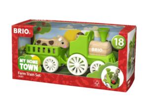BRIO Lok mit Kuh-Anhänger Spielset, Mehrfarbig