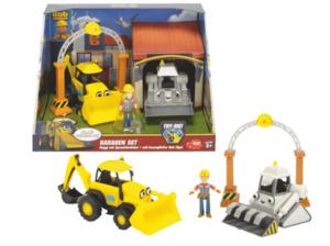 DICKIE TOYS Bob der Baumeister Garagen Set Spielzeugauto, Mehrfarbig