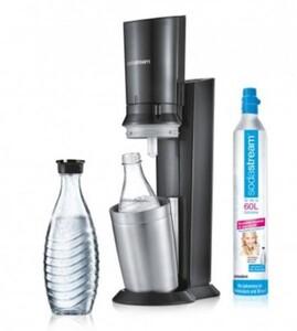 Sodastream Trinkwassersprudler Crystal 2 ,  CO2-Zylinder,  3 x 0,6L Glaskaraffen