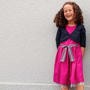 Kinder-Mädchen-Kleid mit passendem Bolero, 2-teilig
