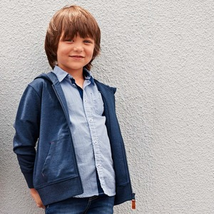 Kinder-Jungen-Sweatjacke mit beliebter Kängerutasche