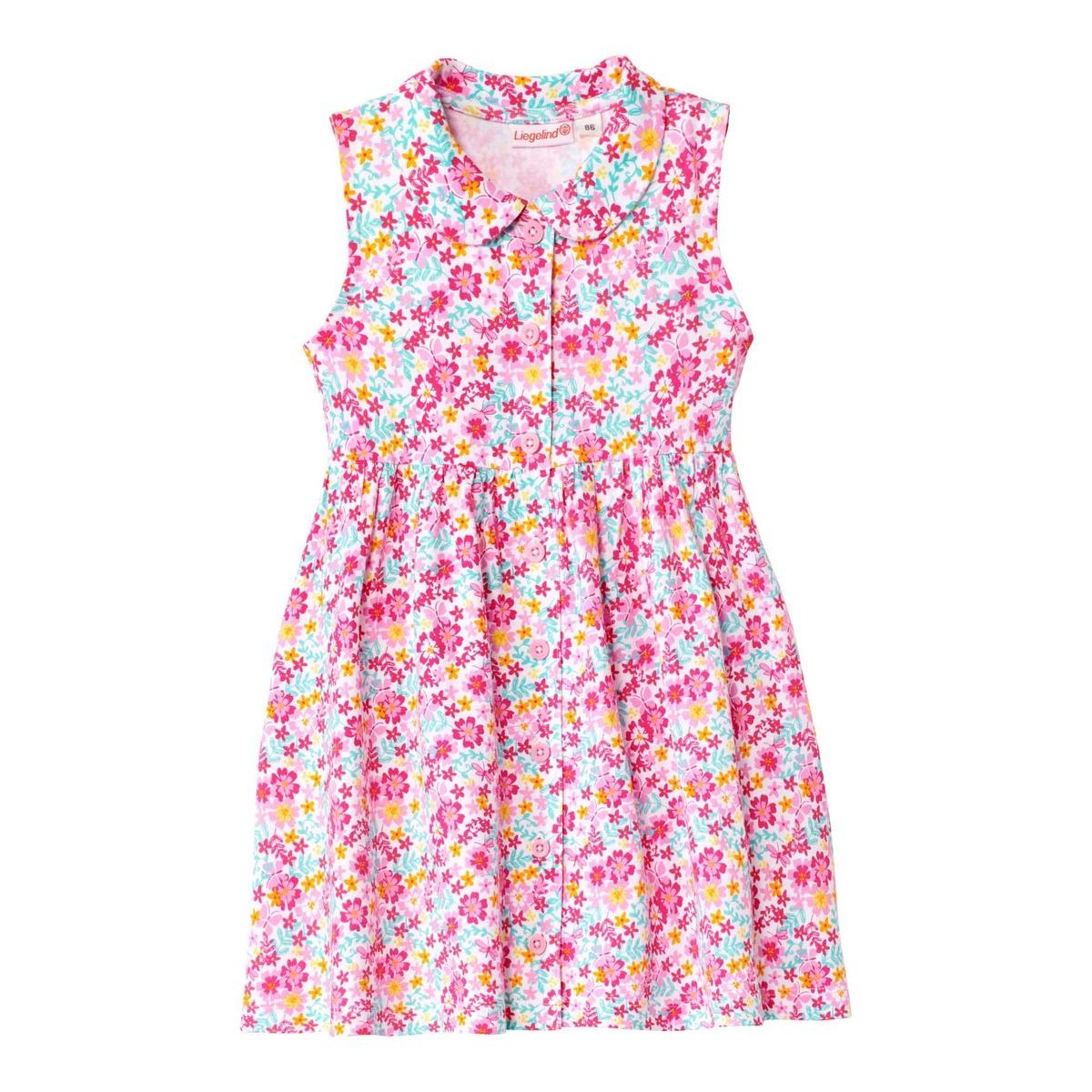 Bild 1 von Baby-Mädchen-Kleid mit farbenfrohem Blumenmuster