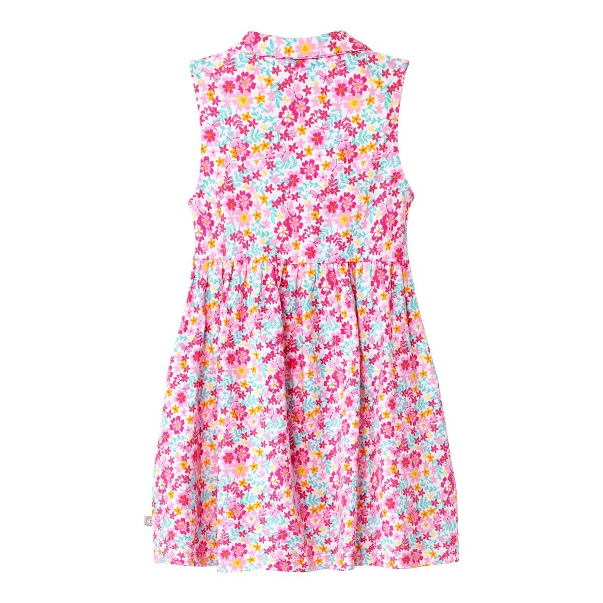 Bild 2 von Baby-Mädchen-Kleid mit farbenfrohem Blumenmuster