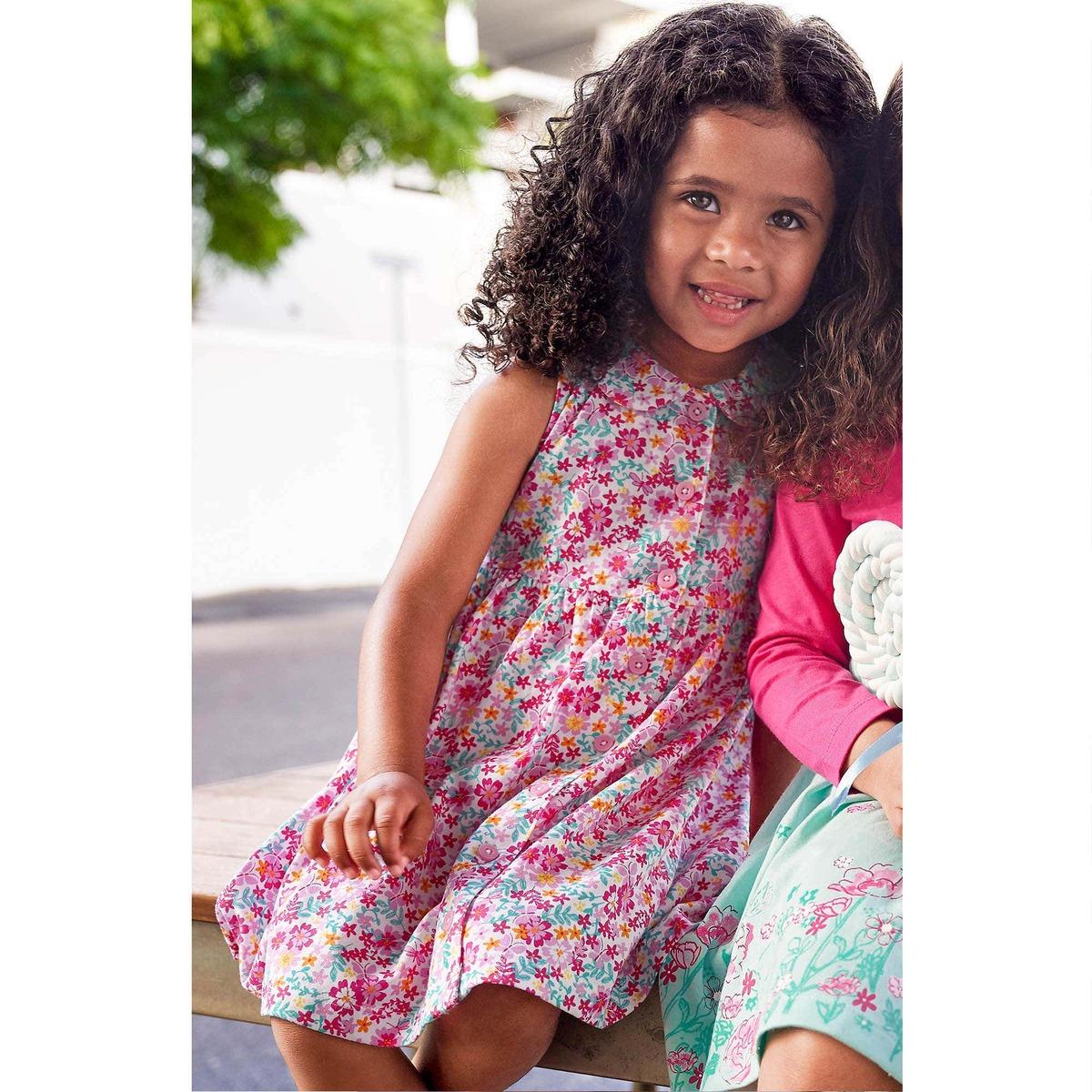 Bild 3 von Baby-Mädchen-Kleid mit farbenfrohem Blumenmuster