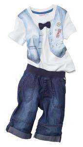 Baby-Jungen-T-Shirt und Hose mit variabler Länge