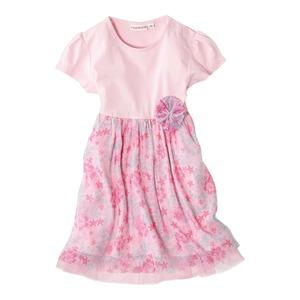 Baby-Mädchen-Kleid mit Knopfleiste an der Schulter