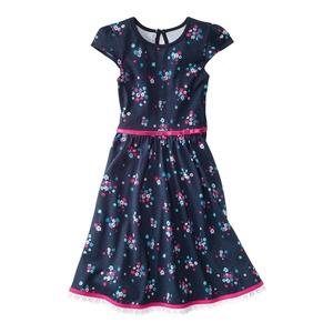Kinder-Mädchen-Kleid mit traumhafter Baumwollspitze