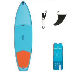 SUP-Board Stand Up Paddle aufblasbar X100 Touring 9' Einsteiger blau/orange