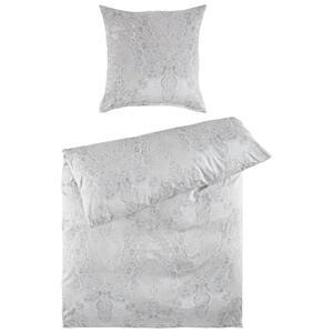 BETTWÄSCHE Makosatin Silberfarben