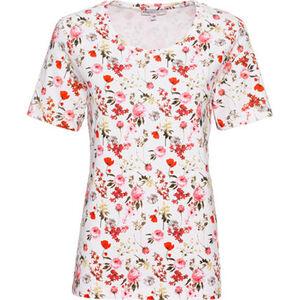 Adagio Shirt, Kurzarm, Print, Rundhals, für Damen
