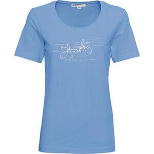 Adagio Shirt, Kurzarm, Rundhals, Print, Strass, für Damen
