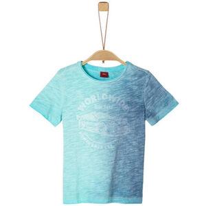 s.Oliver T-Shirt, Rundhals, Print, Flammgarn, für Jungen
