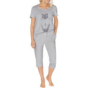 """Triumph Schlafanzug """"Lounge-Me Cotton"""", Rundhals, Capri-Hose, Print, für Damen"""