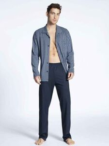 Calida Schlafanzug, durchgeknöpft, Brusttasche, für Herren