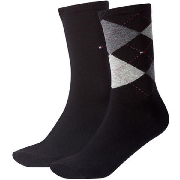 "Tommy Hilfiger Businesssocken ""Check Sock"", 2er-Pack, argyle, uni, für Damen"