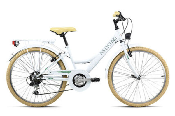 KS Cycling Kinderfahrrad 24'' Toscana weiß 6 Gänge