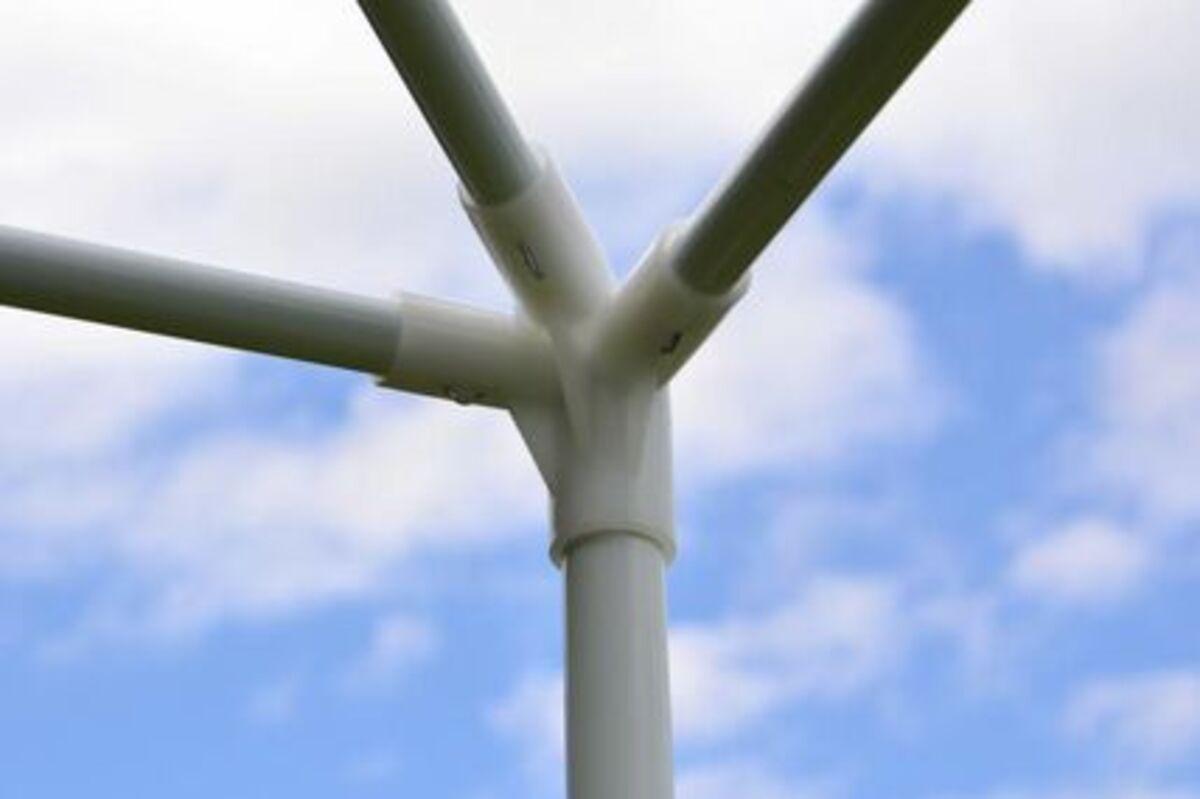 Bild 4 von VCM Pavillon 3x3 m in weiß PE Plane Partyzelt Gartenzelt Stahlgestell Festivalzelt