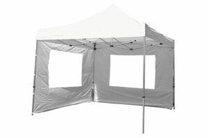 VCM PROFI Falt Pavillon Partyzelt mit 4 Seitenteilen 3x3m weiß wasserdichtes Dach