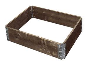 Gartenfreude Hochbeet Hochbeet, Grau, 60 x 80 x 19,5 cm