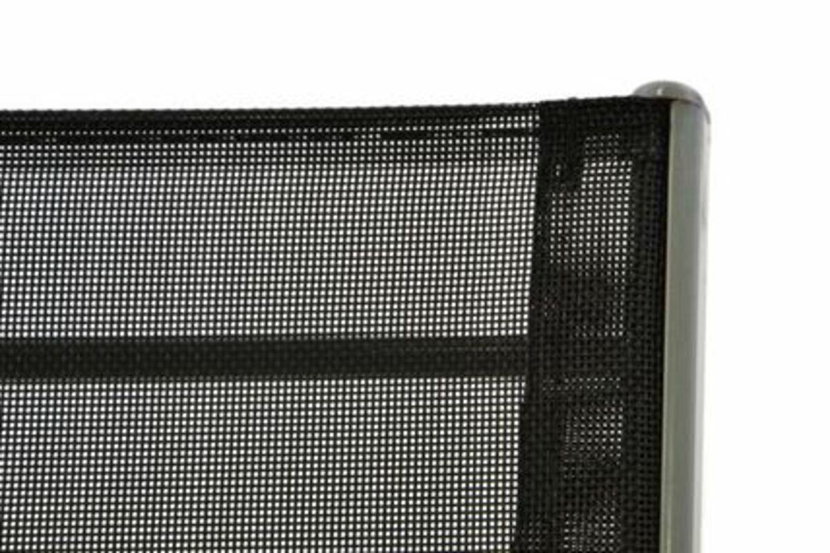 Bild 4 von VCM Gartenstuhl Stapelstuhl Stapelsessel Hochlehner Rahmen grau Textilene schwarz