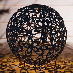 Pureday Solarleuchte 'Blumenkugel', Bronze, Ø 40 cm, Metall