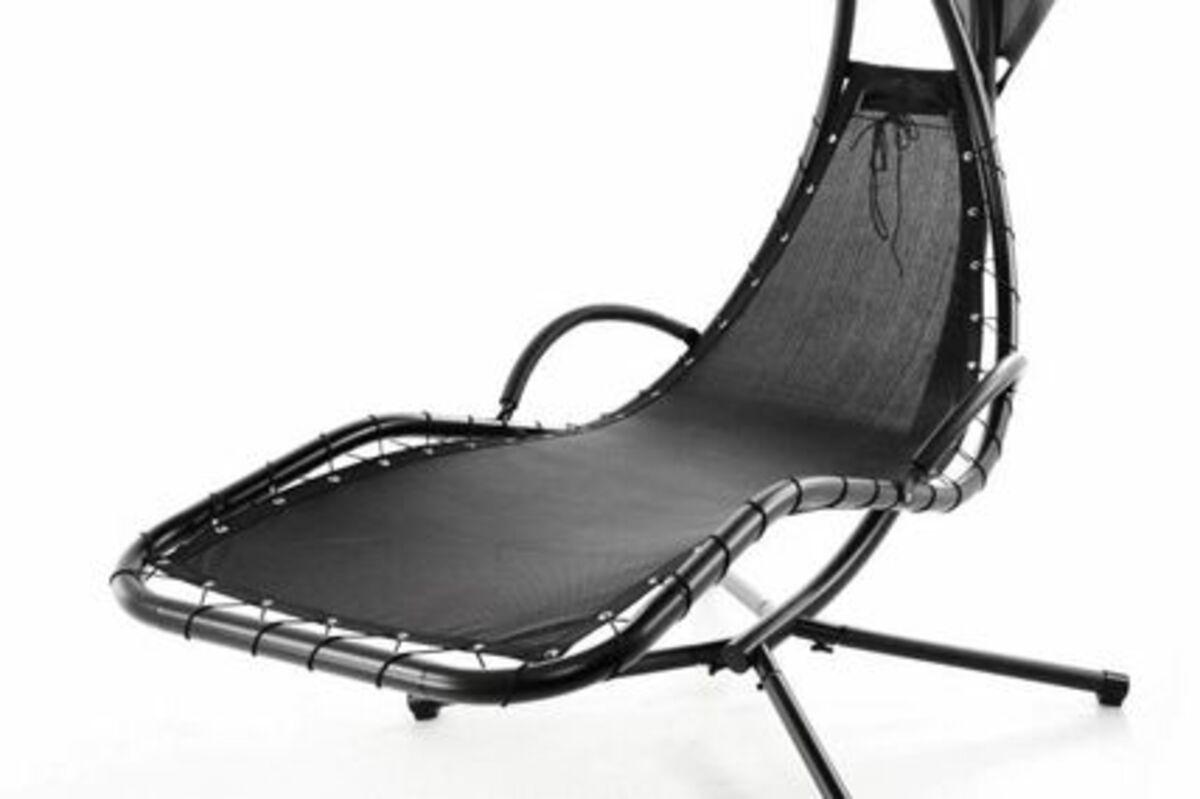 Bild 2 von VCM Luxus Schwebeliege blau Schwingliege Hängeliege Relax-Sonnenliege + Sonnenschutz