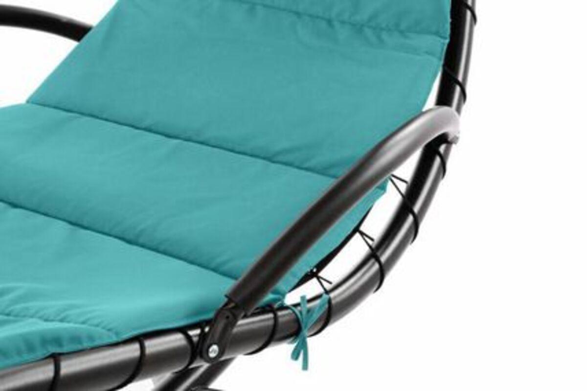 Bild 3 von VCM Luxus Schwebeliege blau Schwingliege Hängeliege Relax-Sonnenliege + Sonnenschutz