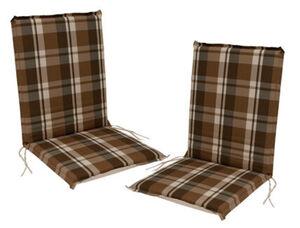 DEGAMO Auflage CAIRO für Stuhl, braun-kariert, 2 Stück