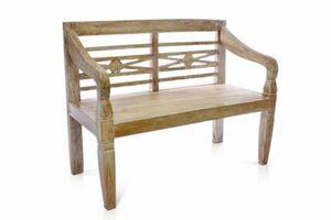 VCM 2-Sitzer Gartenbank massiv stabil antik Handarbeit Teak Holz 115cm