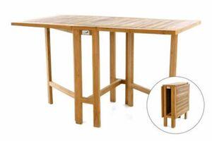 VCM Balkontisch Gartentisch Tisch Klapptisch Holz Teak behandelt 130x65cm