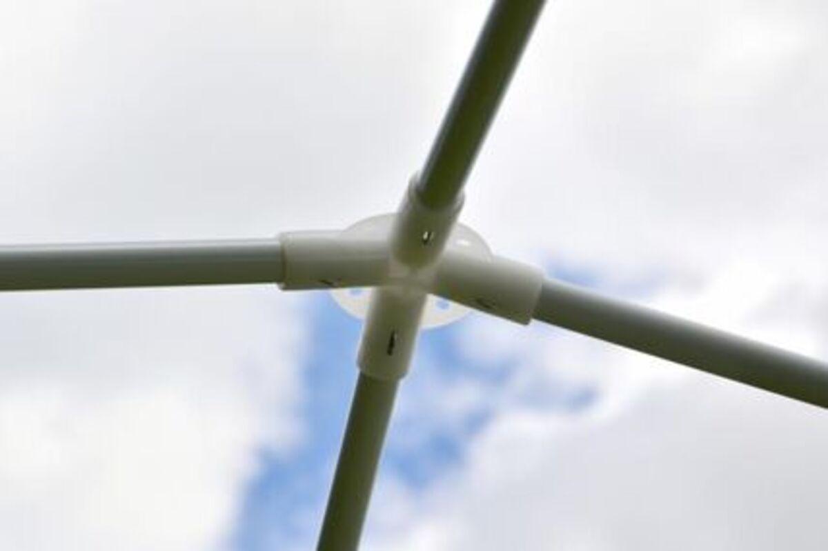 Bild 3 von VCM Pavillon 3x3 m in weiß PE Plane 2 Seitenteile Partyzelt Gartenzelt Sonnenschutz