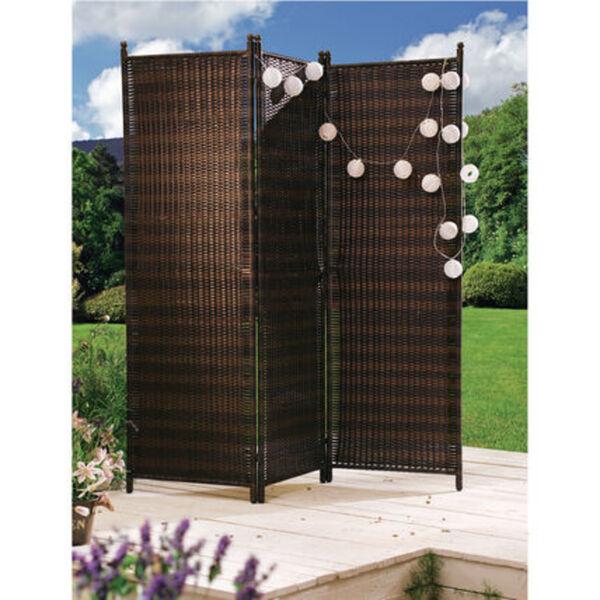 Yorn Home Outdoor-Paravent 'Trevio', Braun, Kunststoff, Stahl