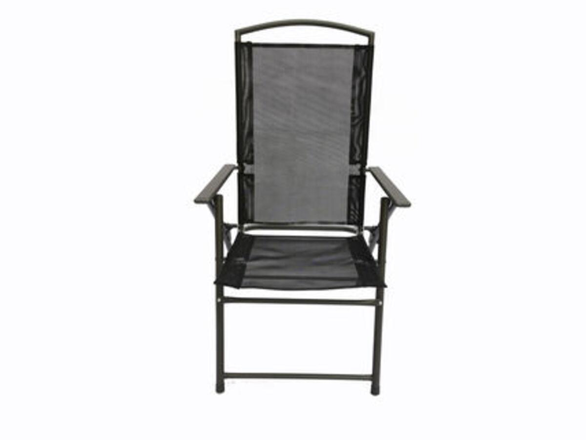 Bild 2 von VCM Set Gartenstuhl Stühle Stuhl Metall Textilene klappbar verstellbar, 4 Stühle