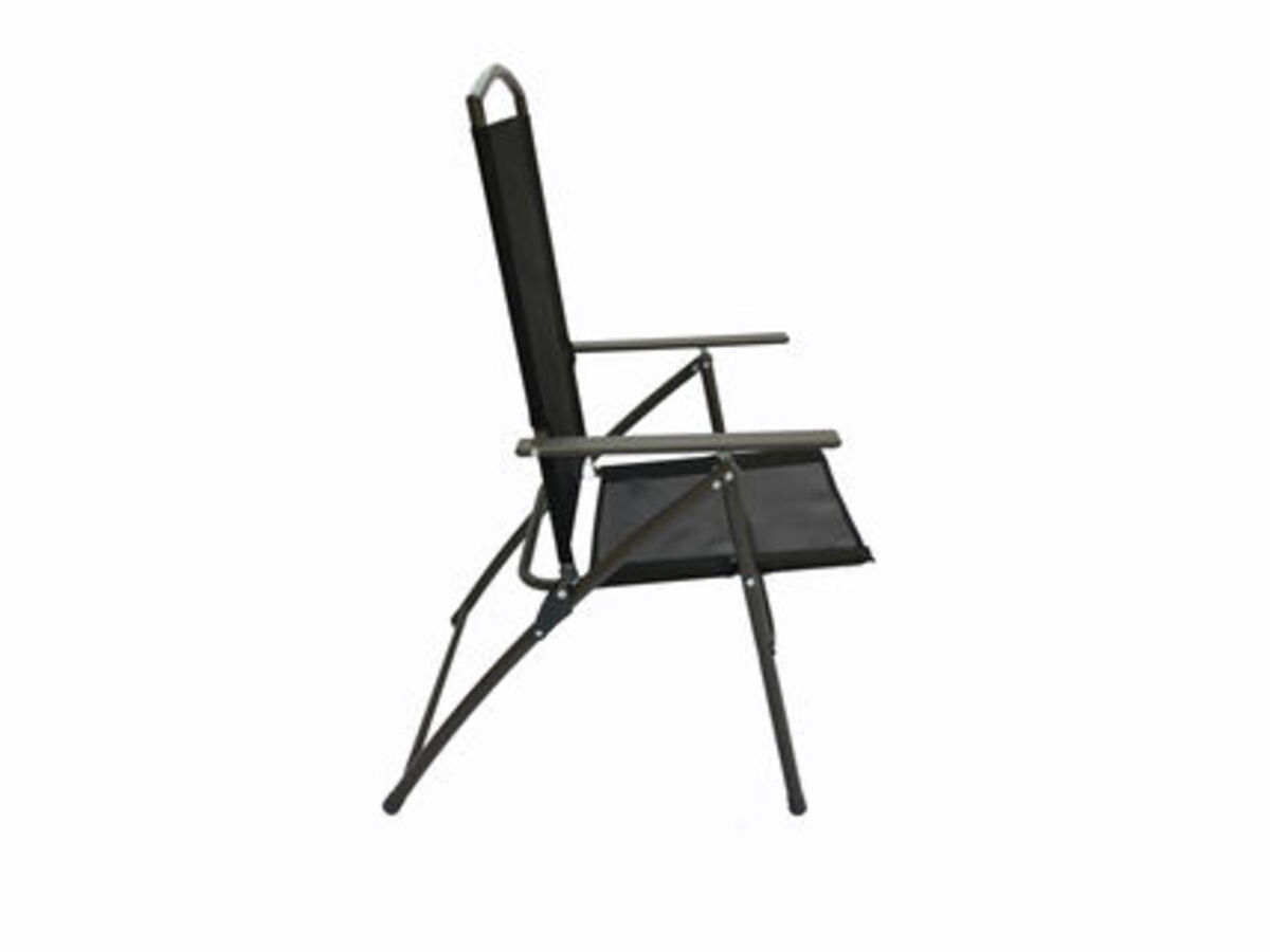 Bild 3 von VCM Set Gartenstuhl Stühle Stuhl Metall Textilene klappbar verstellbar, 4 Stühle