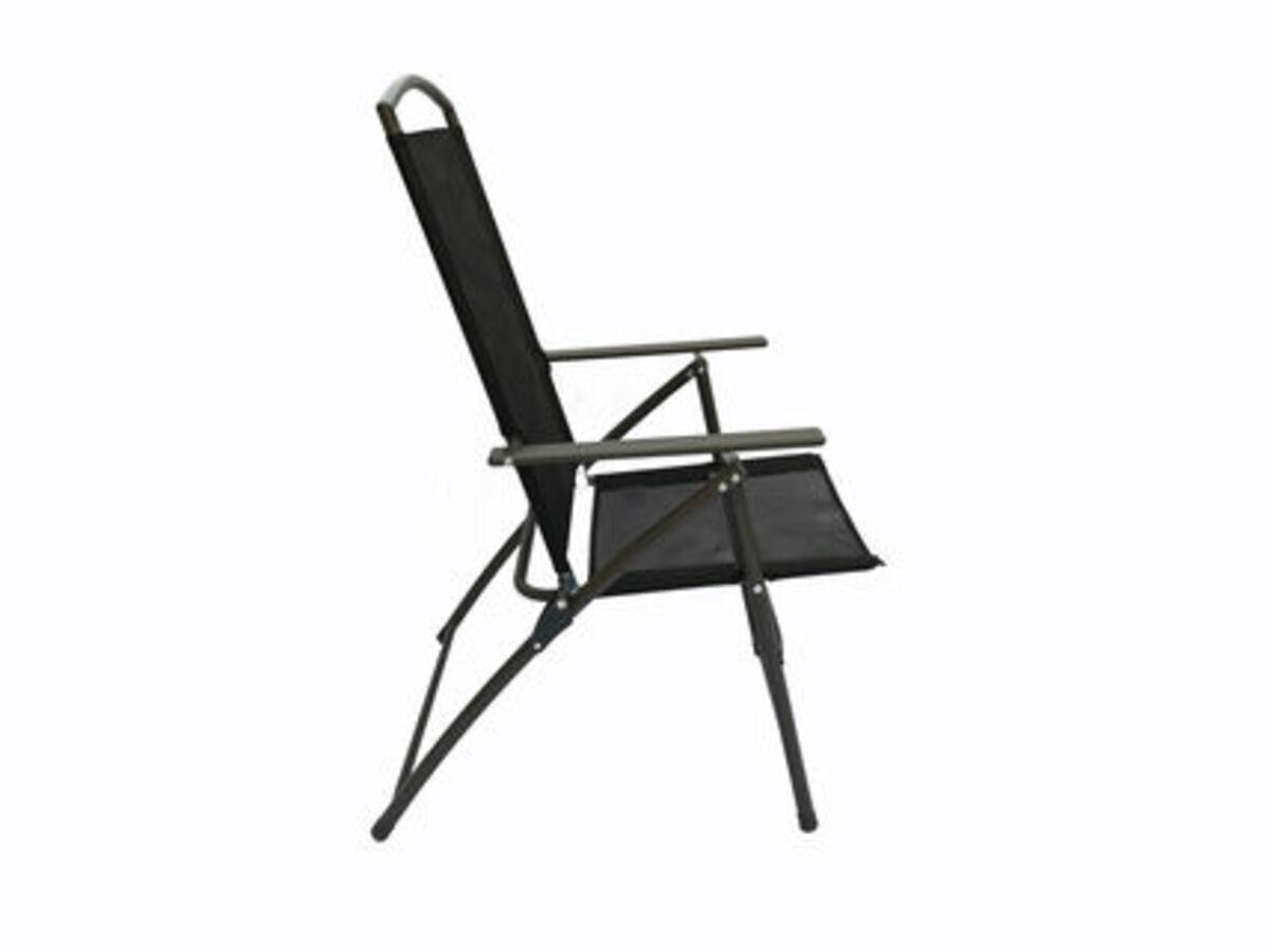 Bild 4 von VCM Set Gartenstuhl Stühle Stuhl Metall Textilene klappbar verstellbar, 4 Stühle