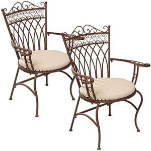 Pureday Outdoor-Stuhl-Set, 2-tlg. 'Versailles', Braun